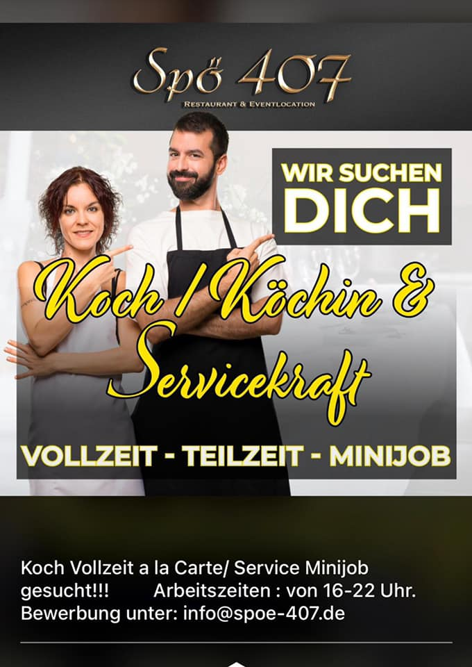 Koch gesucht Spö407